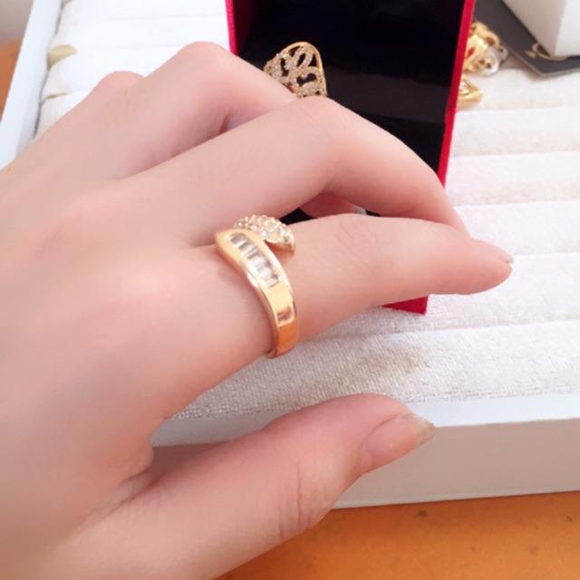Nhẫn nữ màu vàng Tây kèm video