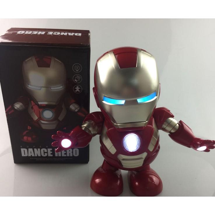 Robot Iron man dancing-Robot tự nhảy múa có đèn led,có nhạc....