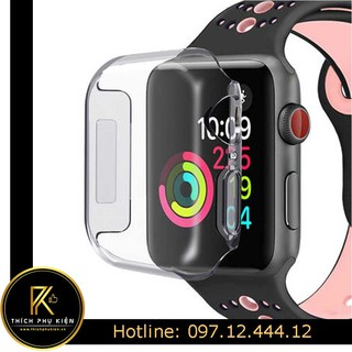 [Mã ELFLASH5 giảm 20K đơn 50K] Ốp Trong Silicon Chống Sốc Apple Watch/Case Chống Sốc Trong Suốt iWatch