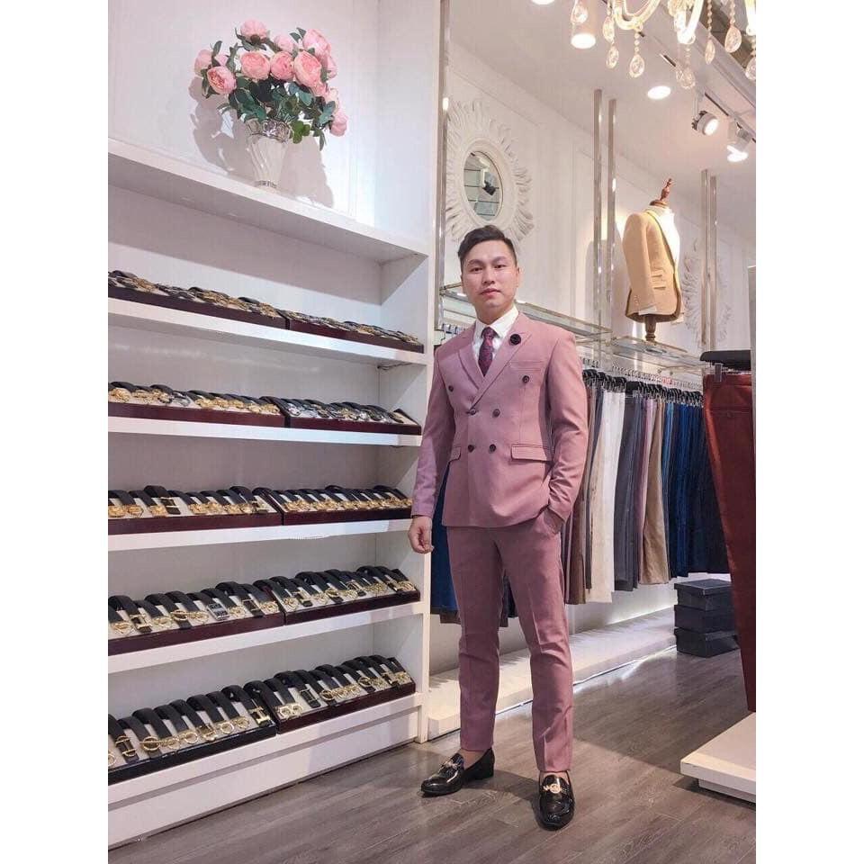 Big Sale Bộ Veston Hồng 6 Cúc Thời Trang _ Style Trẻ .