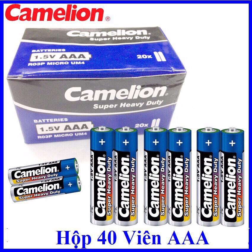 🎁Giá Sỉ🎁 Hộp 40 Viên Pin Tiểu AAA (3A) Camelion Super Heavy Duty Battery 1.5V