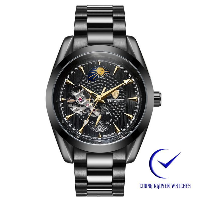 Đồng hồ nam Tevise cơ trăng sao cao cấp - TEVI06D(Màu đen)