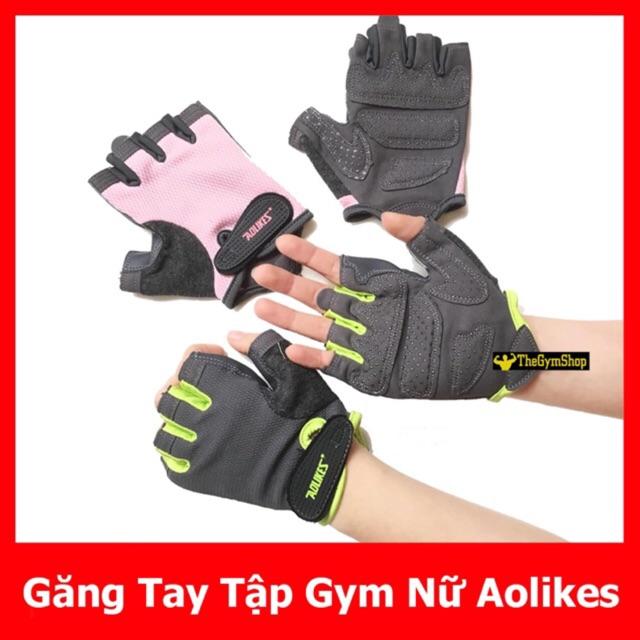 [Mã MASOIC giảm 20K đơn BẤT KÌ] Găng tay nữ tập gym chính hãng Aolikes