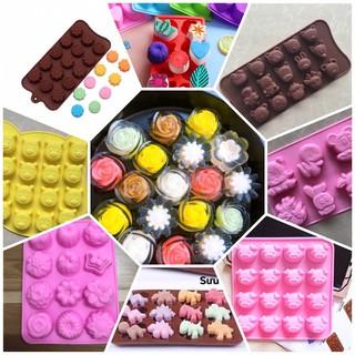Khuôn silicon nhiều mẫu làm thạch, rau câu, socola,pudding