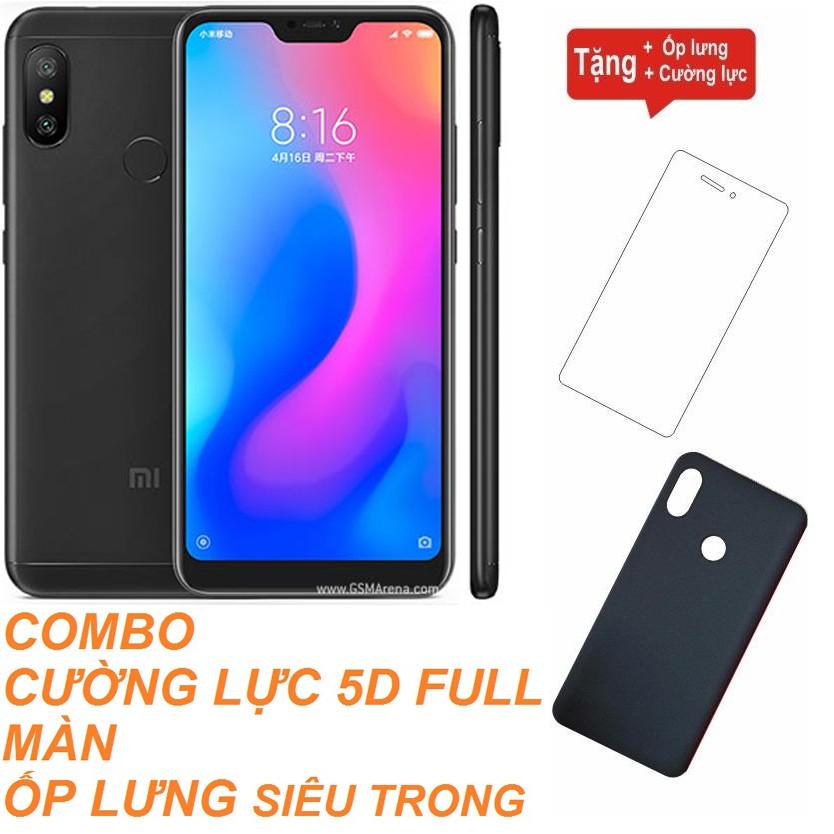 Combo Điện thoại Xiaomi Redmi 6 Pro RAM 4GB - 64GB Hàng nhập khẩu + Cường lực + Ốp lưng