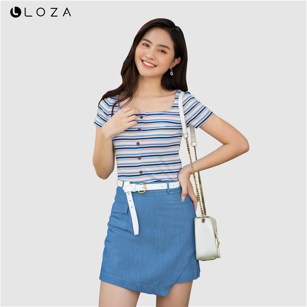 Áo croptop nữ LOZA PT5036