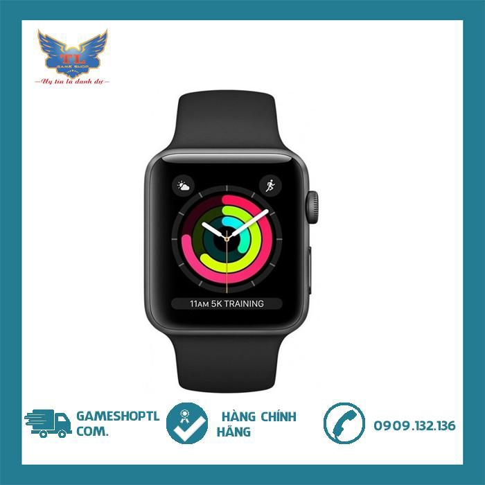 Đồng Hồ Thông Minh Apple Watch Series 3 GPS Aluminum Case With Sport Band - New nguyên seal