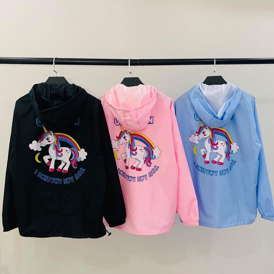 Jacket unicorn -Áo khoác dù 2 lớp (Ảnh thật)