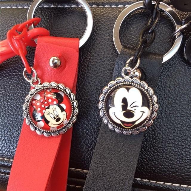 Set Áo Thun In Hình Chuột Mickey + Quần Dài Ống Rộng Thời Trang Cho Cặp Đôi
