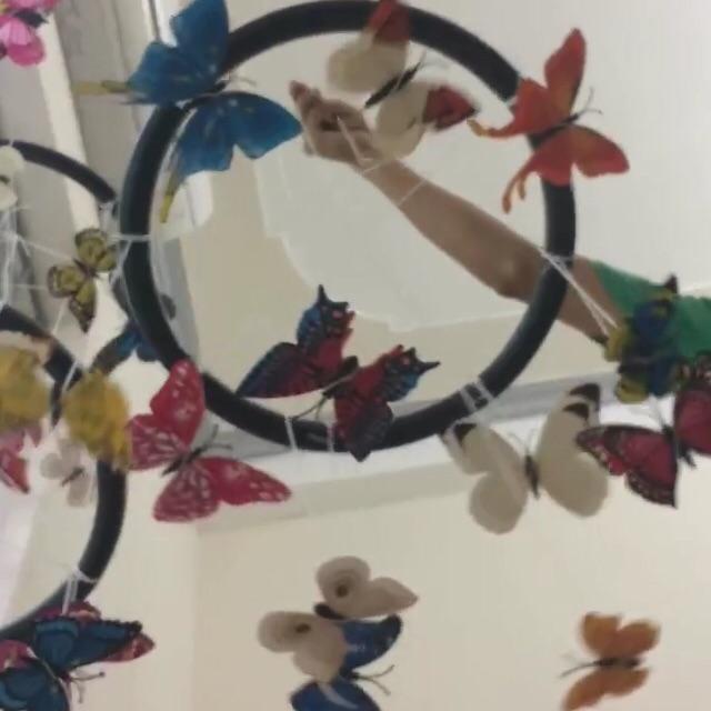 Combo bộ giáo cụ hình bướm và bóng vải
