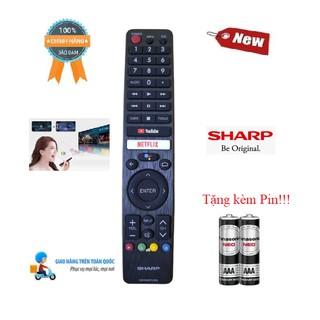 Remote Điều khiển tivi Sharp giọng nói GB346WJSA - Hàng mới chính hãng 100% Tặng kèm Pin!!!