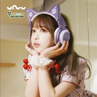 Tai nghe tai mèo Yowu cao cấp, bluetooth, led RGB