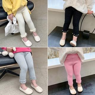 Baby Girls Pearl Design Leggings Children Cute Stretchy Warm Pants