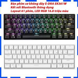 Bàn phím cơ E-DRA EK361W Bluetooth - Bàn phím cơ không dây - Layout 61 phím - Led RGB 16,8 triệu màu - BH 2 năm thumbnail