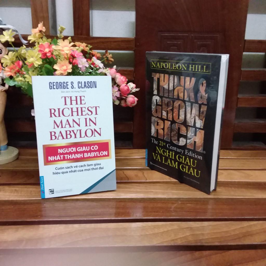 ( Sách Thật ) Combo sách Nghĩ giàu & làm giàu và người giàu có nhất thành Babylon - 8935086844243 -8