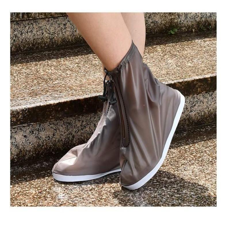 Bọc giày đi mưa cổ vừa