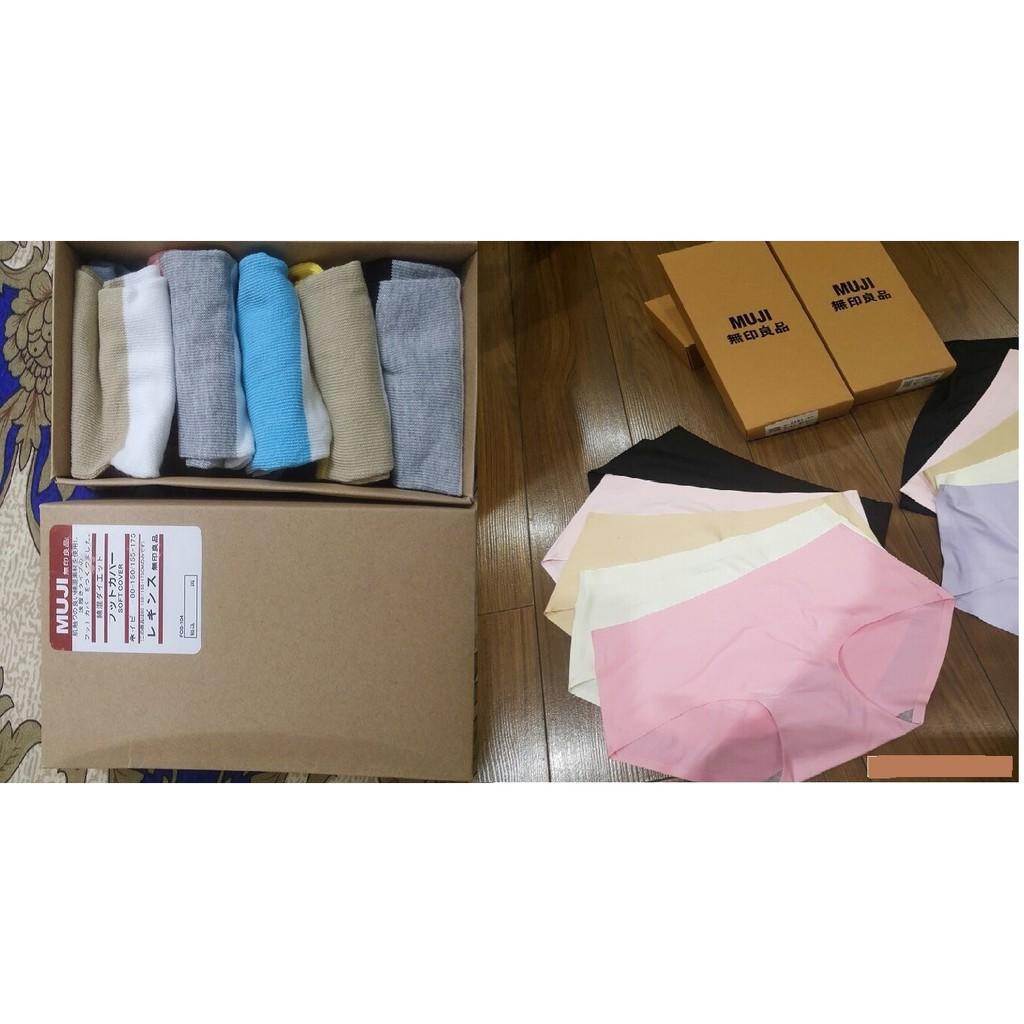 Combo Bộ set 5 Quần lót nữ MUJI không viền và set 5 tất chống mùi hôi Muji Nhật Bản - 3208232 , 650784246 , 322_650784246 , 249000 , Combo-Bo-set-5-Quan-lot-nu-MUJI-khong-vien-va-set-5-tat-chong-mui-hoi-Muji-Nhat-Ban-322_650784246 , shopee.vn , Combo Bộ set 5 Quần lót nữ MUJI không viền và set 5 tất chống mùi hôi Muji Nhật Bản