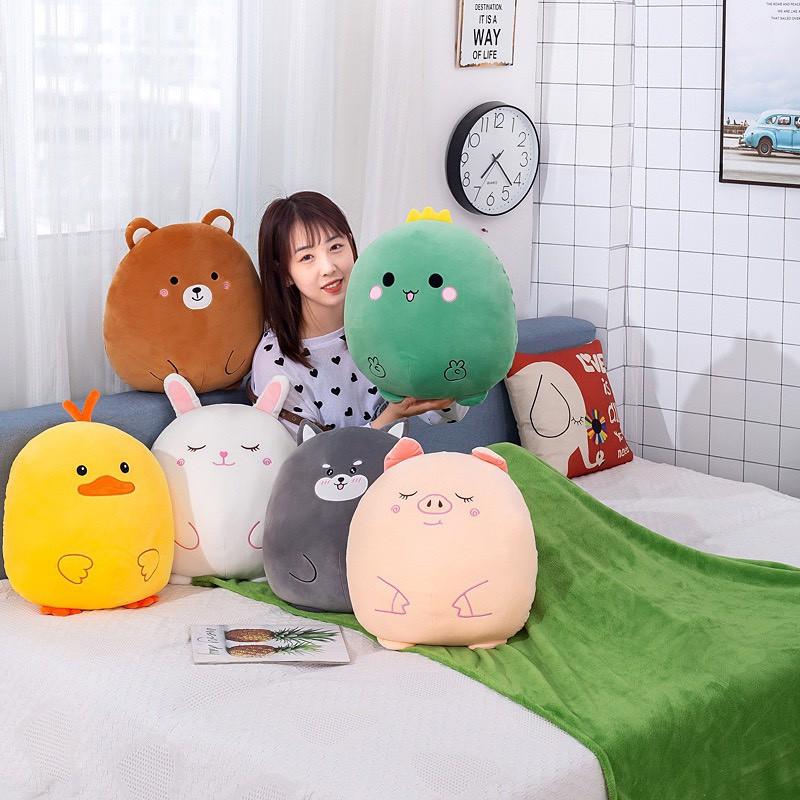 Chăn Gối Văn Phòng 3 Trong 1 phong cách hoạt hình dễ thươngGM024 Chichi,Gấu Ngủ Kèm Mền siêu cute phù hợp mọi lứa tuổi