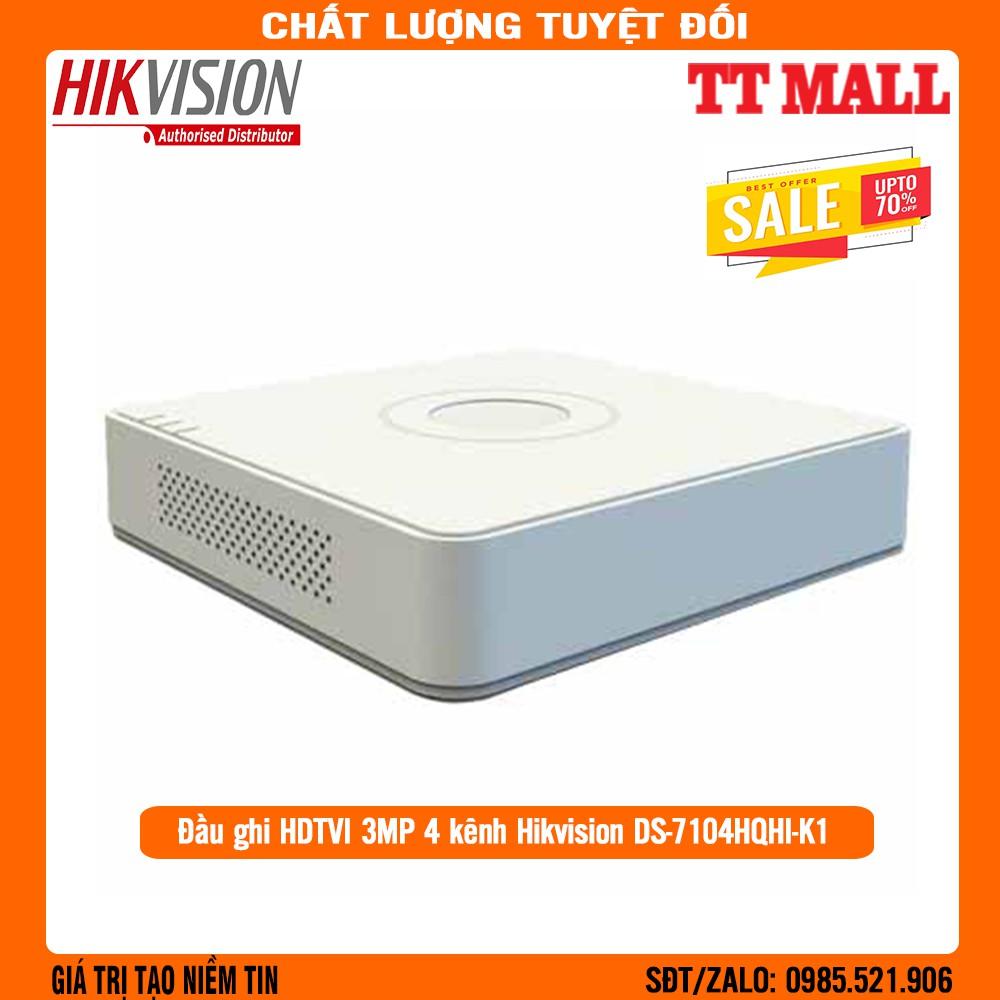 Đầu Ghi Hình HIKVISION HD-TVI 4 Kênh  2MP/3MP DS-7104HQHI-K1 .