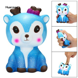 ★Hu Squishy Slow Rising Galaxy Deer Animal Kids Adults Squeeze Toys Stress Reliever shopee. vn|mochi04
