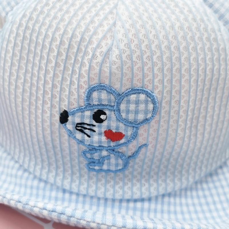 Mũ Nón Lưỡi Trai Dạng Lưới Hình Chuột Đáng Yêu Cho Bé Từ 6 Tháng Đến 2 Tuổi Chuẩn Hàng Hàn Quốc
