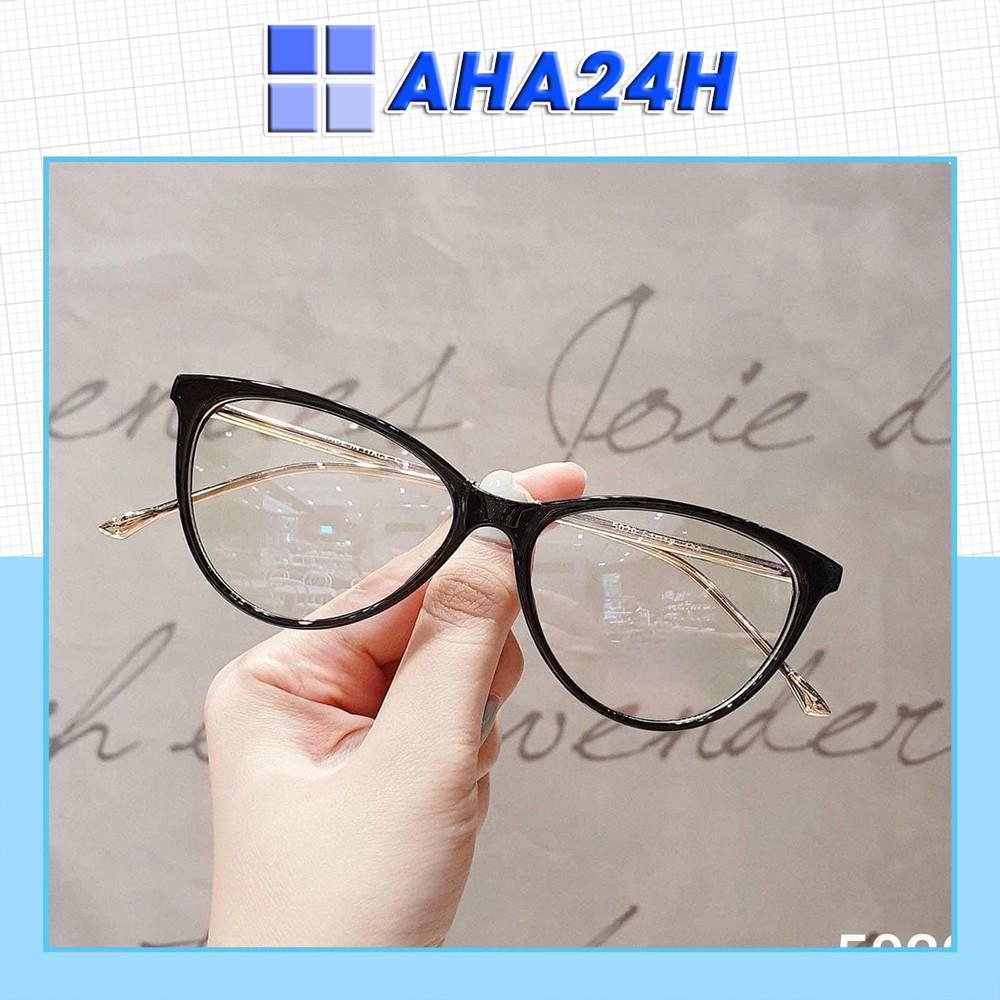 Mắt kính giả cận nữ thời trang mắt xếch mèo đẹp AH1540-7B1