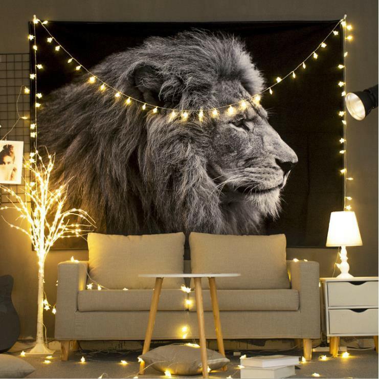 [ 50 MẪU + Tặng đèn 8M]  Thảm treo tường, decor phong ngủ vintage, size150x130cm, vải treo tường decor