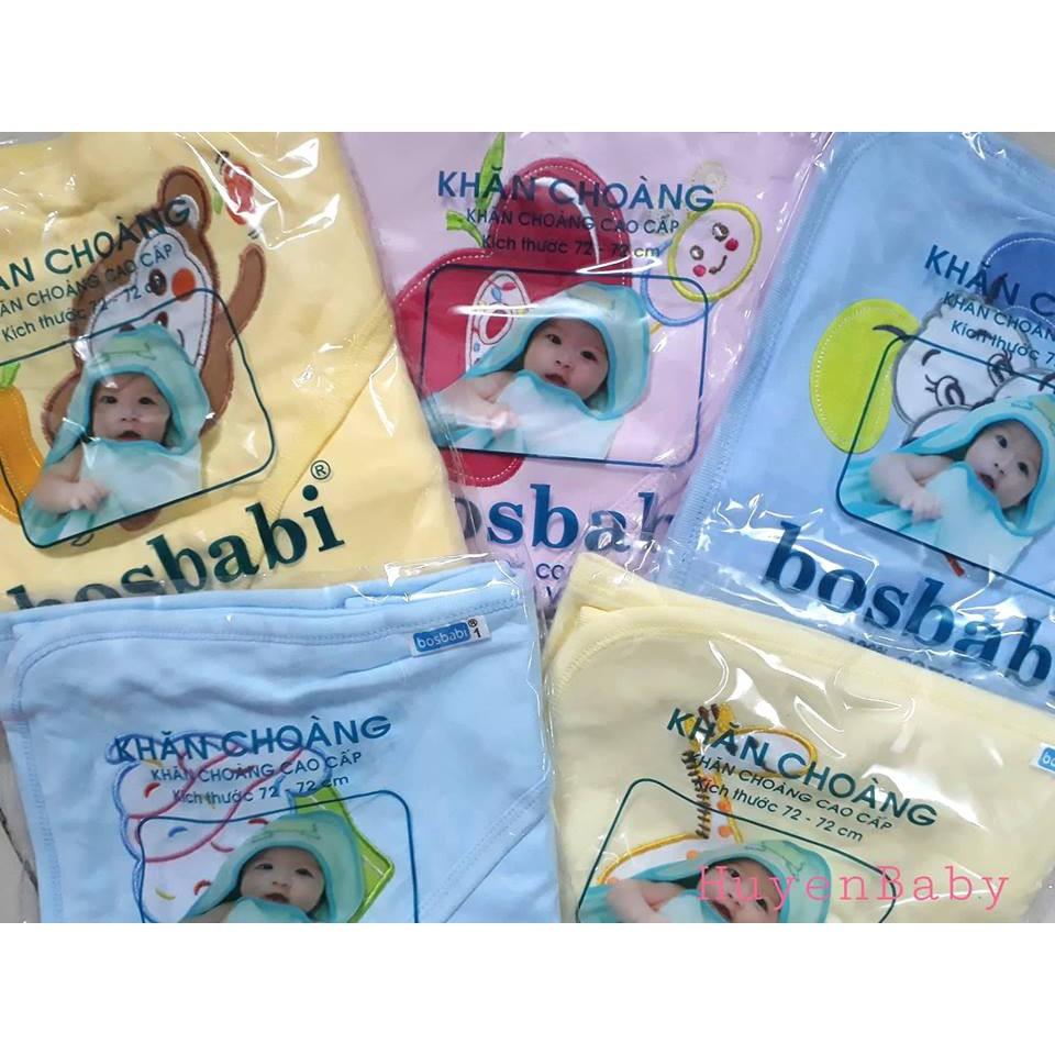 Choàng bế sơ sinh Bosbabi cho bé, kích thước 72x72 cm