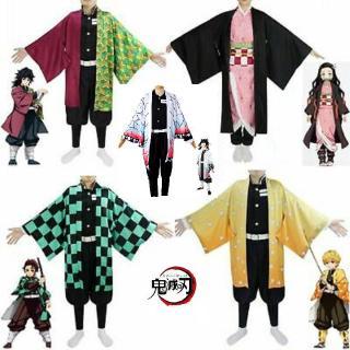 Bộ trang phục hóa trang nhân vật Kamado Nezuko phim Demon Slayer: Kimetsu No Yaiba có kèm tóc giả