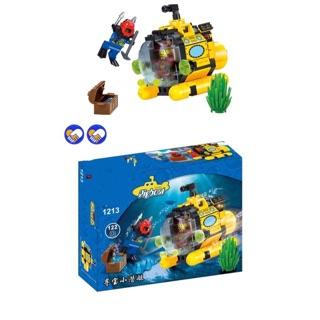 |Đồ Chơi Trẻ Em| Mẫu Mô Hình Lego Enlighten 1213 Pigboat Tàu ngầm đại dương