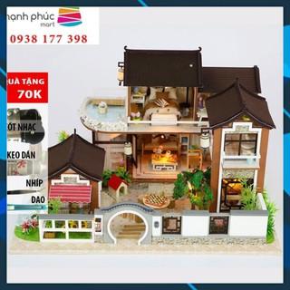 Mô hình nhà búp bê gỗ DIY Nhà búp bê Dream back to ancient town Toy World