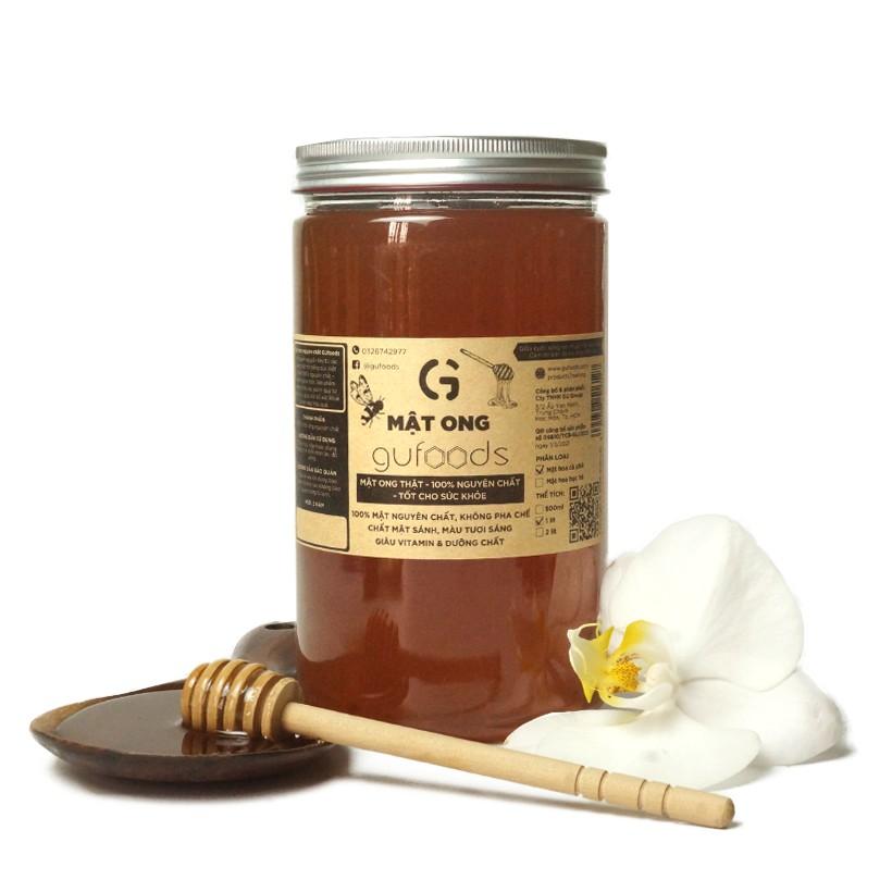 Mật ong nguyên chất GUfoods - Mật ong thật, 100% nguyên chất, Tốt cho sức khỏe