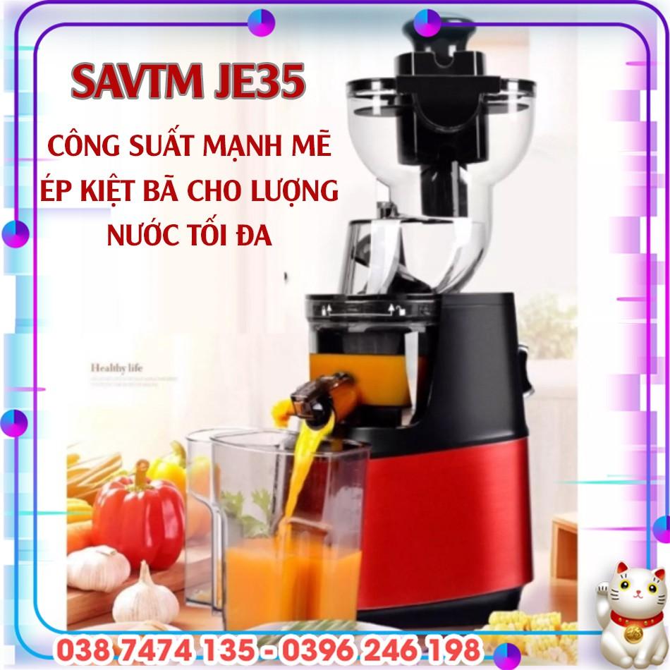 Máy ép trái cây nguyên quả SAVTM JE35/ JE31/ JE07 - Máy ép chậm công nghiệp  ép sạch kiệt bã (BẢO HÀNH 12 THÁNG) - Máy xay sinh tố Nhãn hàng No