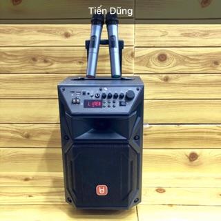 Loa kéo karaoke BD H0871 kết nối Bluetooth bass 25cm tặng 2 micro