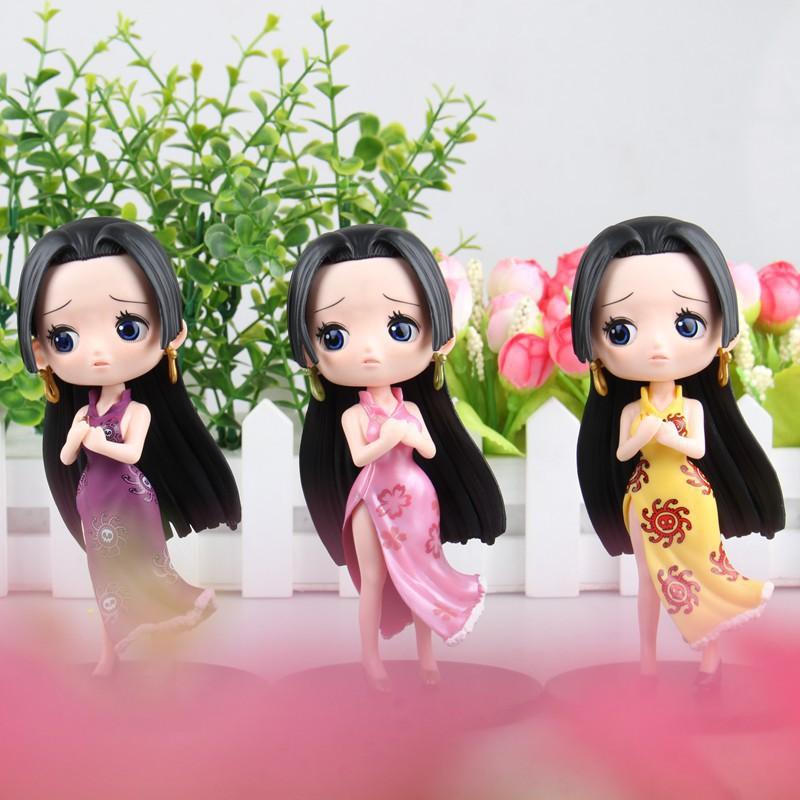 One Piece Q version 3 female emperor Poya Hancock purple yellow pink Action Figures doll