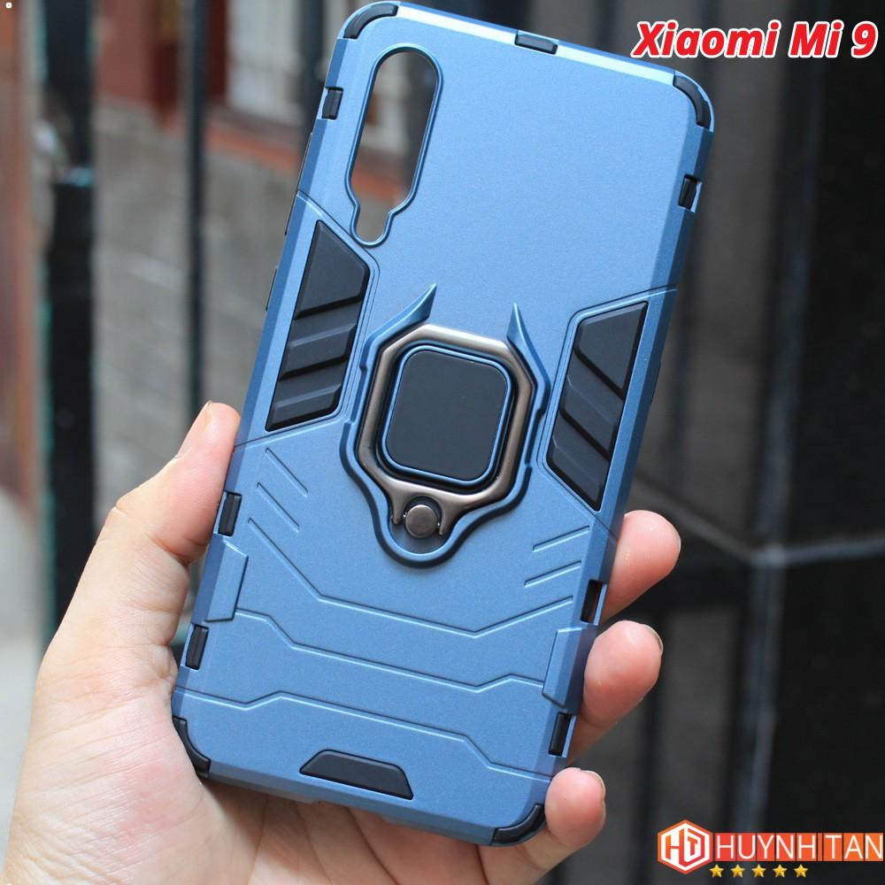 FREESHIP ĐƠN 99K_Ốp lưng Xiaomi Mi 9/ Mi 9 TE chống sốc Iron Man ver 2 có Iring (Màu xanh như ảnh bìa)