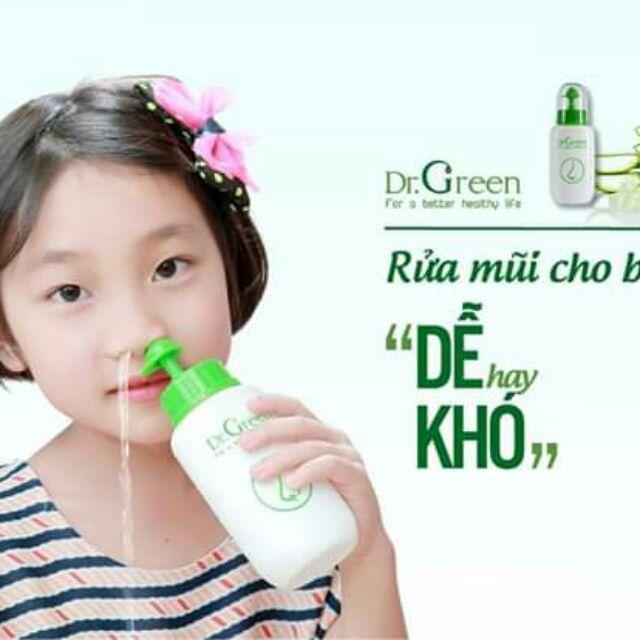 Bình Rửa Mũi Dr. Green ( Kèm 10 Gói Muối Nha Đam)