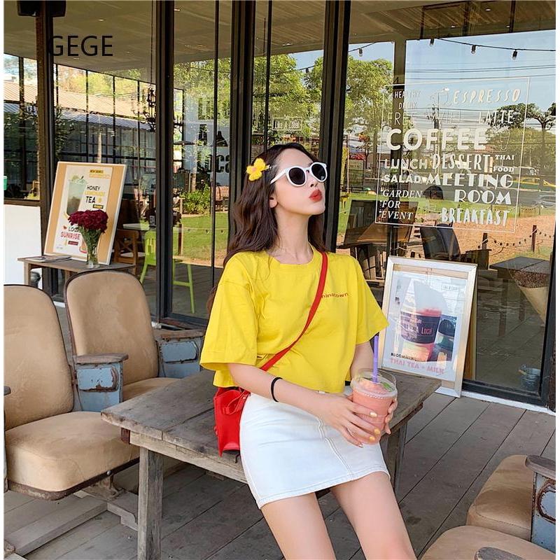 Áo thun nữ ngắn tay phong cách Hàn Quốc năng động
