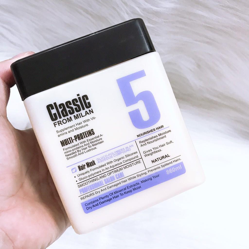 Kem hấp ủ tóc cao cấp Classic 5 From Milan 860ml