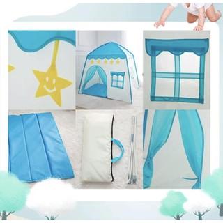 [ ⭐⭐⭐ Hỗ trợ Ship ⭐⭐⭐ ] Lều chơi cho bé có cửa sổ màu xanh – Lều màu xanh