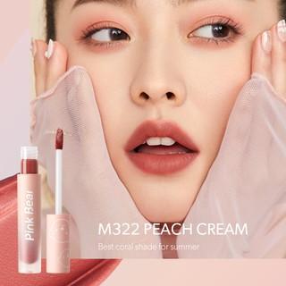 Son Kem Pink Bear Butter Cream Tint Velvet Matte Lip Long-lasting Hydrating High coverage 8 Shades 2.5g 5
