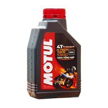 Dầu nhớt 1 lít MOTUL H-Tech 100 10W40 (100% tổng hợp) MA2 SN