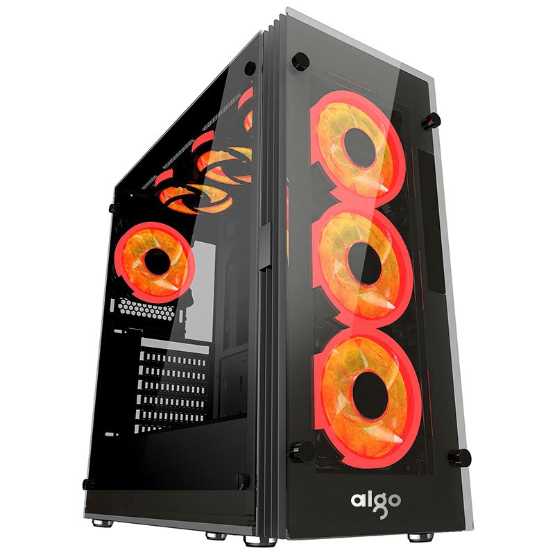 Case AIGO ATLANTIS ( Đen ) + Tặng kèm 3 RED RING FAN