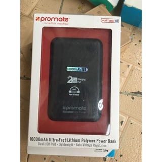 Pin sạc dự phòng Promate VolTag-10 10000mAh( Đen) thumbnail