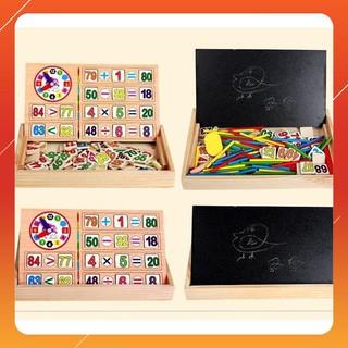 [GIÁ RẺ VÔ ĐỊCH] – Bảng gỗ 2 mặt dạy bé học toán