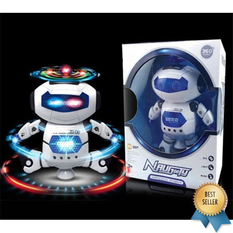 (ẢNH TỰ CHỤP) Đồ chơi Robot thông minh nhảy múa hát xoay 360 độ(Nhiều màu)