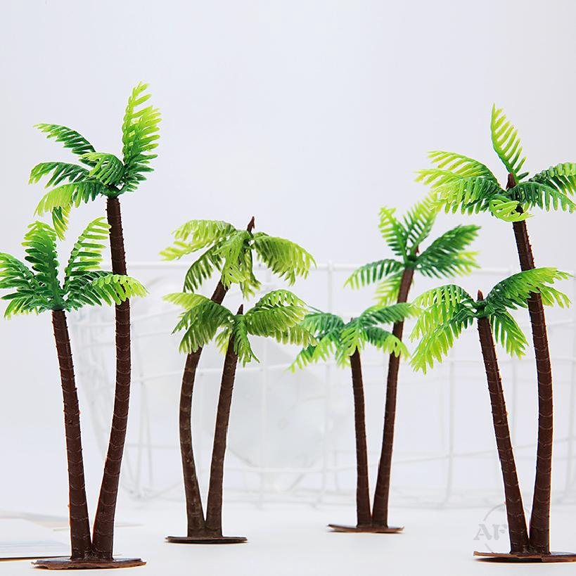 จำลองน้ำหญ้ารูปแบบตารางทราย 13 เซนติเมตรมินิมะพร้าวอบอุปกรณ์ประกอบฉากพลาสติกดอกไม้ 636