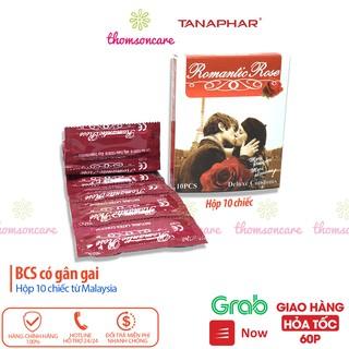 Bao cao su Romantic Rose Hộp 10 chiếc gân gai - Luôn che tên sản phẩm - Giao hàng kín đáo thumbnail
