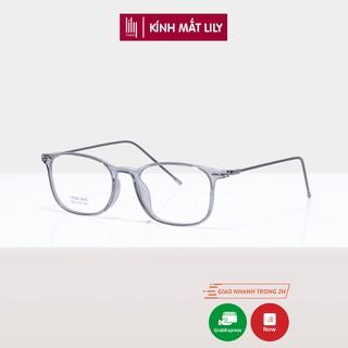Gọng kính cận nam nữ Lilyeywear nhựa dẻo, mắt tròn vuông, nhiều màu - 8092