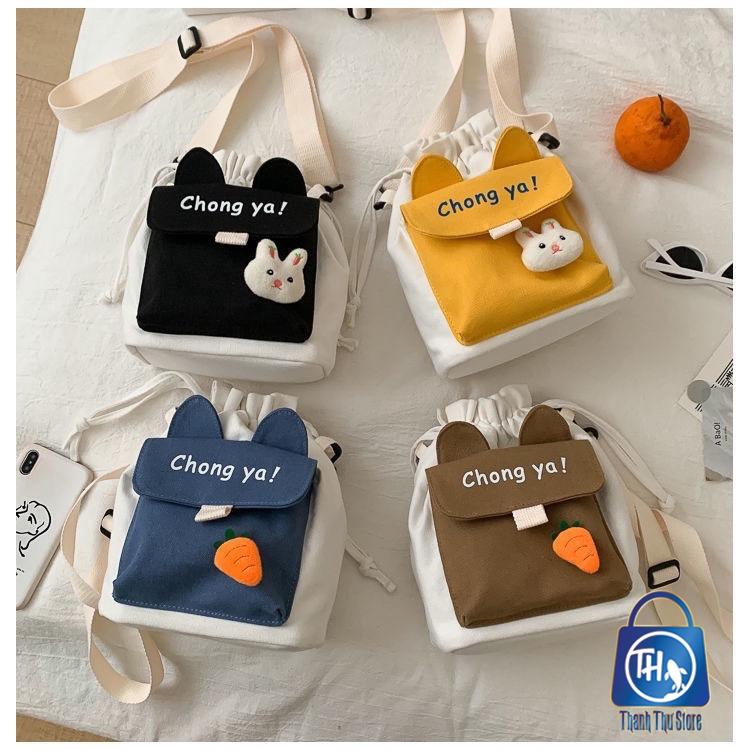 Túi vải đeo chéo phong cách Nhật Bản CHONG YA BH 458